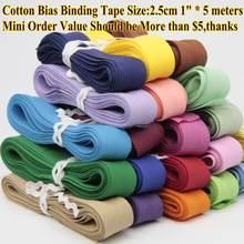 Fita de bindnig da viés do algodão, tamanho: 25mm, largura: 1