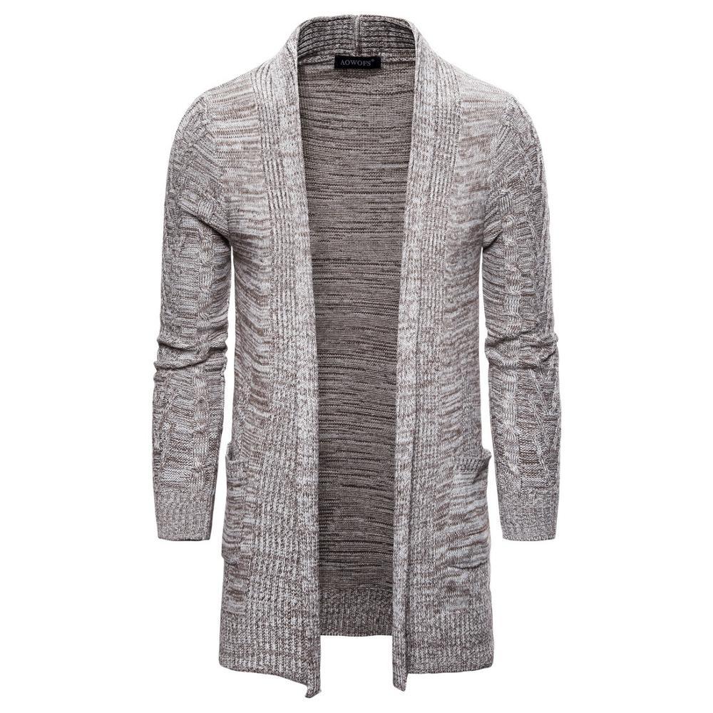 Men's Casual Sweater Coats Winter Fashion Man Pockets Knit Outwear Coat Sweaters