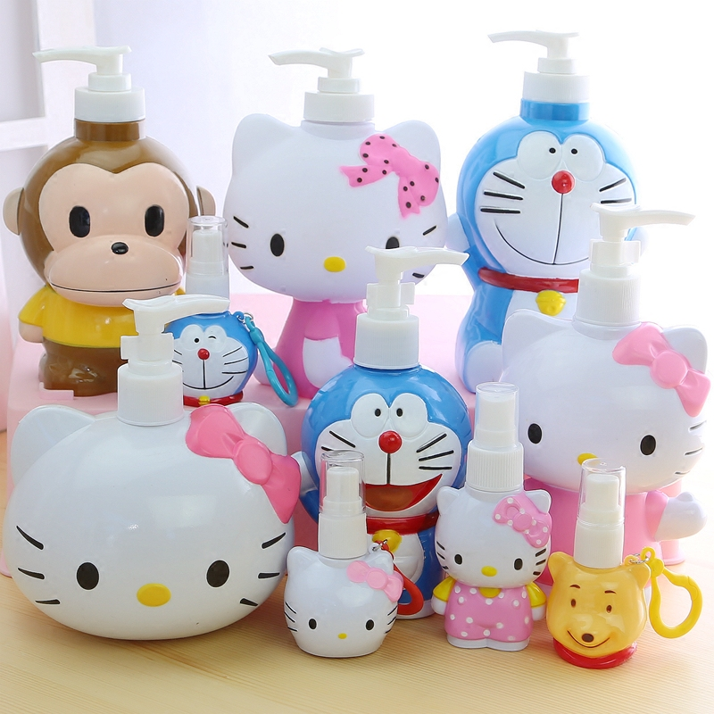 Cartoon Hello Kitty Kitty Sannitizer Replacement Bottle Portable Spray Lotion Storage Bottle Press Sannitizer Replacement Bottle
