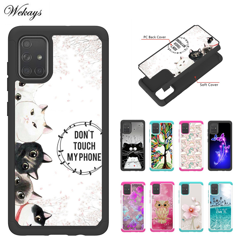 Cartoon Cat Owl Case For <font><b>Samsung</b></font> <font><b>Galaxy</b></font> A01 A51 A71 A10E A20 A20E A30 A30S <font><b>A50</b></font> A50S <font><b>A505</b></font> Phone Cases Back Cover Fundas Capa image