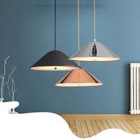 Wooights nowoczesny pojedynczy głowica jadalnia pokój sypialnia salon Loft wisiorek światła Metal Nordic lampa wisząca AC110V 220V w Wiszące lampki od Lampy i oświetlenie na