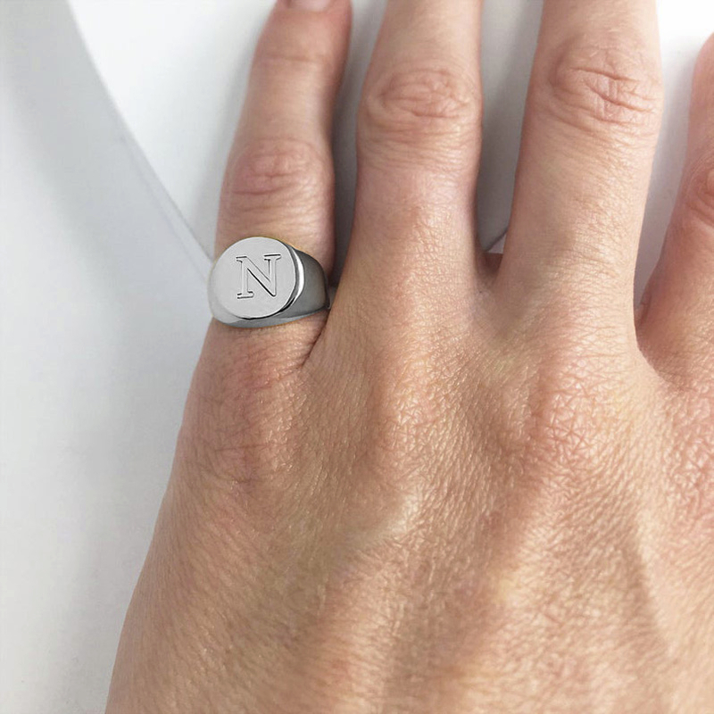 Truly Noble Royalty Pinky Ring Custom Silverly Signet Ring With Personalized Engraved Ring For Men Unisex Jewelry