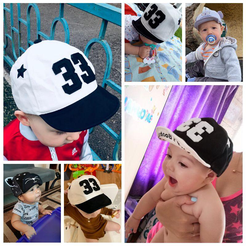 Berretto da bambino carino numero di ricamo berretto da Baseball per bambini primavera estate bambini cappello da sole in cotone cappelli per visiera da esterno per bambina 2
