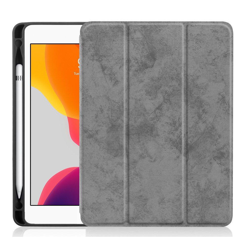 Smart PU Leather Case For iPad 10 2 2019 with Pencil Holder Cover for Apple iPad