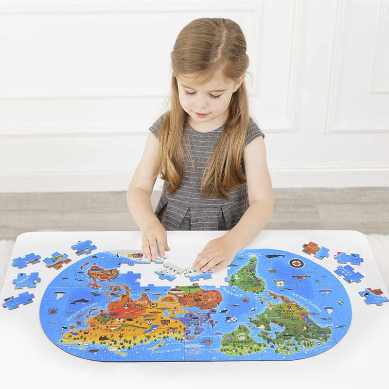 MiDeer 100 stücke Karte Puzzle Spielzeug kinder Puzzle Jigsaw Kinder Kognitiven Baby Frühe Bildung Puzzle Geschenk Box Baby spielzeug