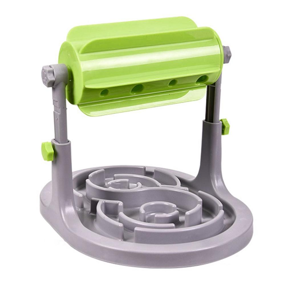 Interactive Dog Cat Bowl Slow Feeder Adjustable Funny Treats Dispenser Exercise Games For Puppys Kitten