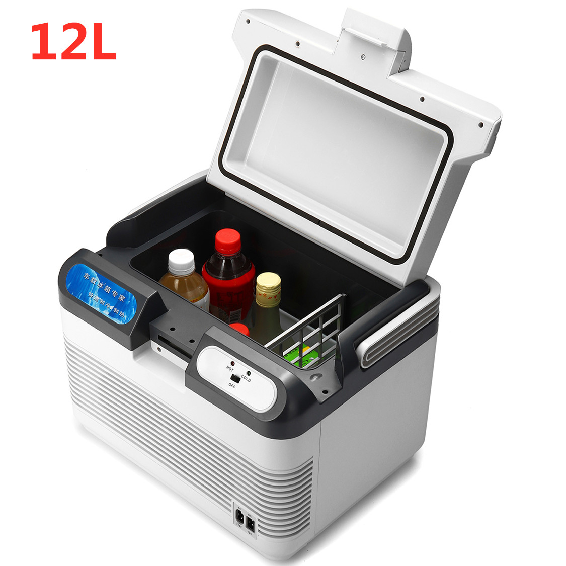 Mini Fridge Warmer Compressor Auto-Refrigerator Portable Camping 12L 12V 10-65-Degree title=
