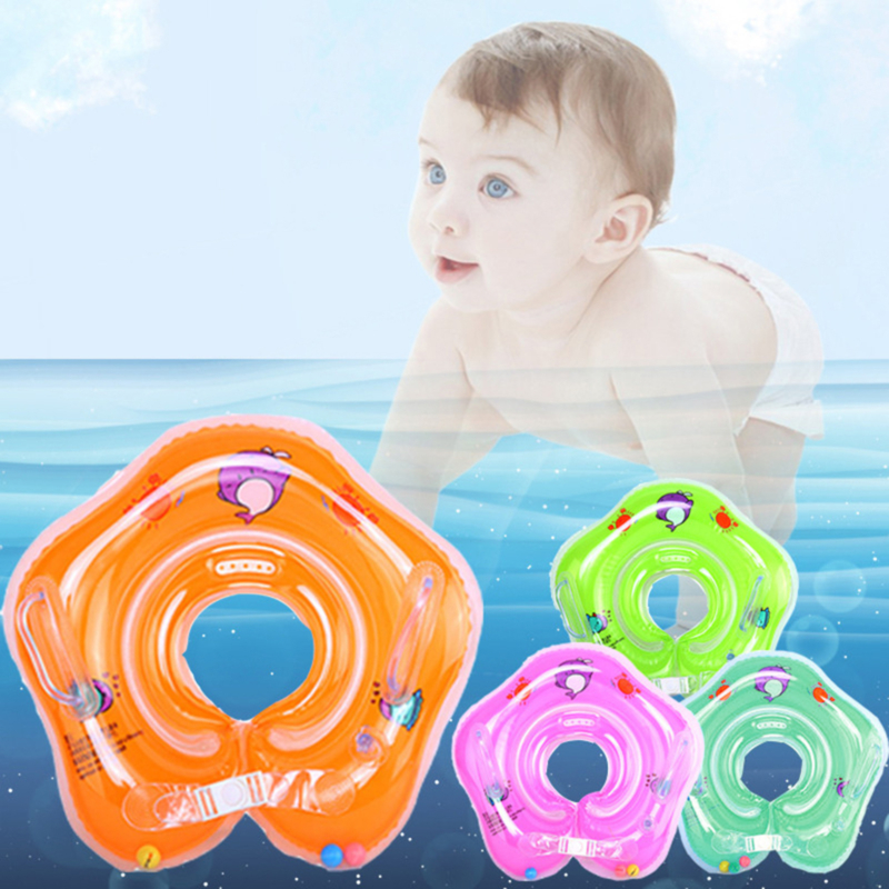 Newborn Swimming Inflatable Collar Infant Baby Swimming Equipment Children's Double Balloon Swimming Ring