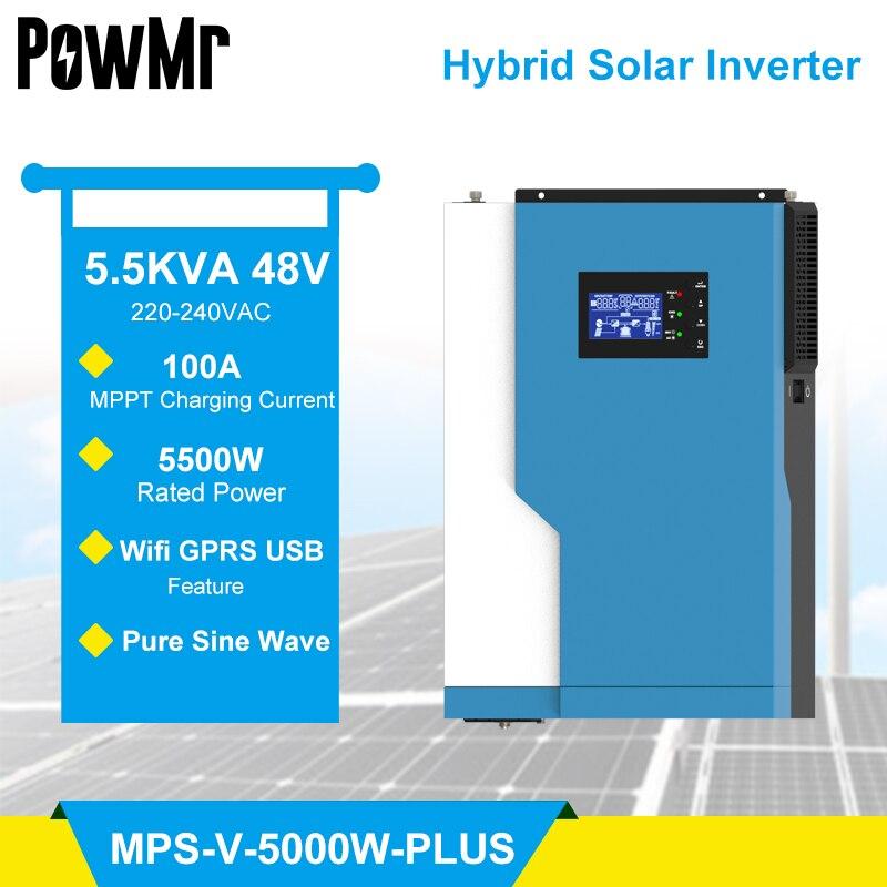 powmr hibrido inversor 3 5 5 5kw onda senoidal pura solar inversor buit no controlador solar