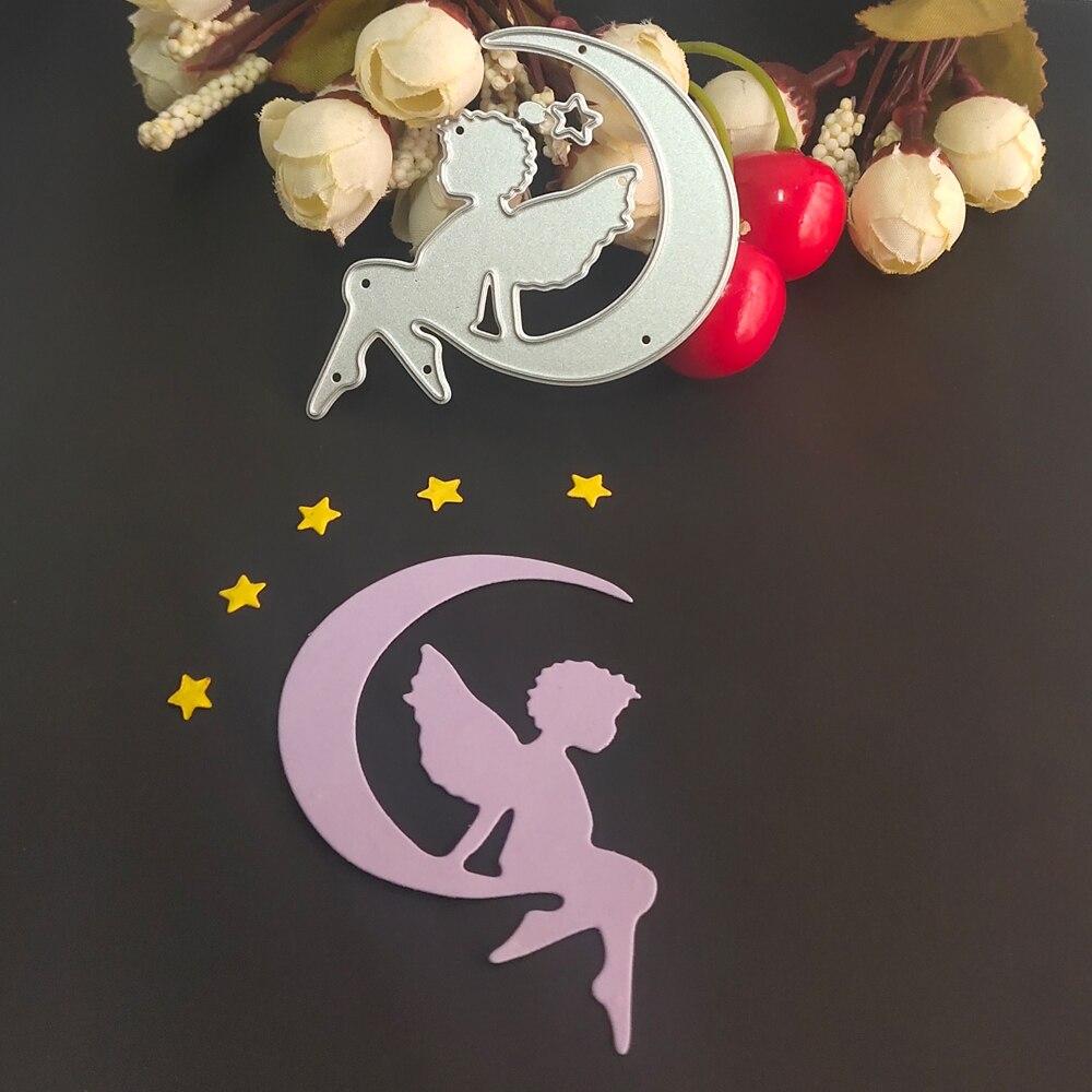 Dark Moon Angel Star Metal cutting Mould Business Card Printing Mold scrapbook / album Decoration DIY