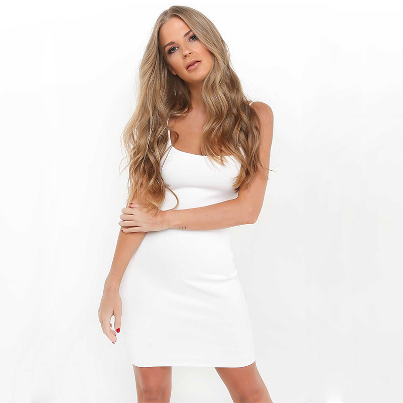 H1de098cfeaec4066b03cec0829453084F Robe Sexy Club Dresses Summer Solid Color Backless Spaghetti Straps Nightclub Dress Bodycon Mini Sundress Elegant Party Vestidos