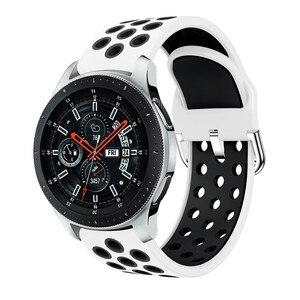 Силиконовые 22 мм браслеты для Samsung Galaxy Watch 46 мм Gear S3 Classic/Frontier Galaxy Watch 3 45 мм браслет для Huawei GT|Ремешки для часов|   | АлиЭкспресс