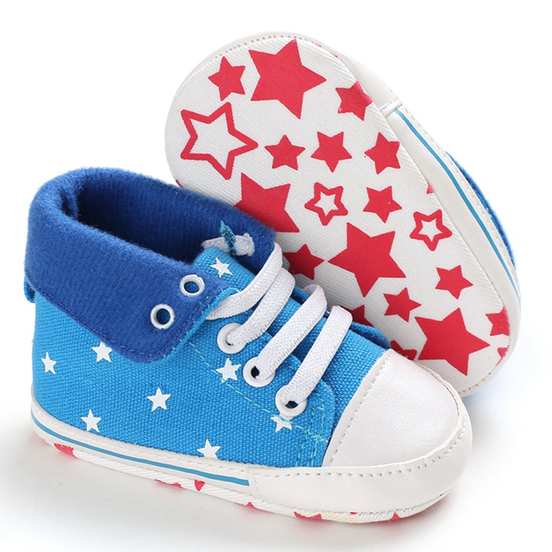 Canvas Baby Shoes Winter Sneakers Footwear Toddler Shoes Girls Boys Casual First Walkers Star Print Canvas Shoes