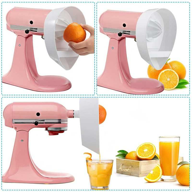 Juice Attachment For Kitchenaid Stand Mixers 4 5qt 5qt Citrus Juicer Stand Mixer Attachment Reamer Dishwasher Safe Aliexpress
