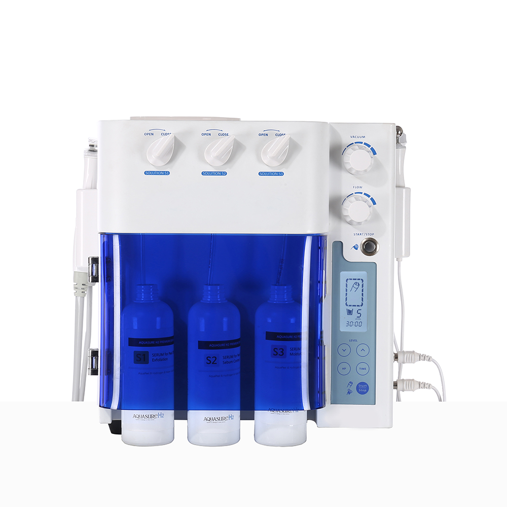 2020 Popular 3 In 1 Hydro Facial Small Bubble RF Skin Rejuvenation H2O2 Aqua Peel Anti Aging  Salon Machine