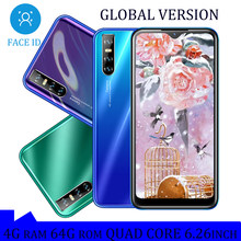 A71 4G RAM smartfony Android 6.26 cala 64GB ROM 13mp HD kropla wody pełny ekran czterordzeniowy telefony komórkowe twarz odblokowany Celular