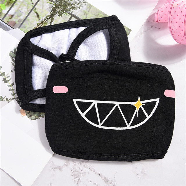 Cycling Face Mask 1PC Cotton Mouth Face Mask Kpop Black Bear Cycling Outdoor Sports Cotton Cover Masks 3