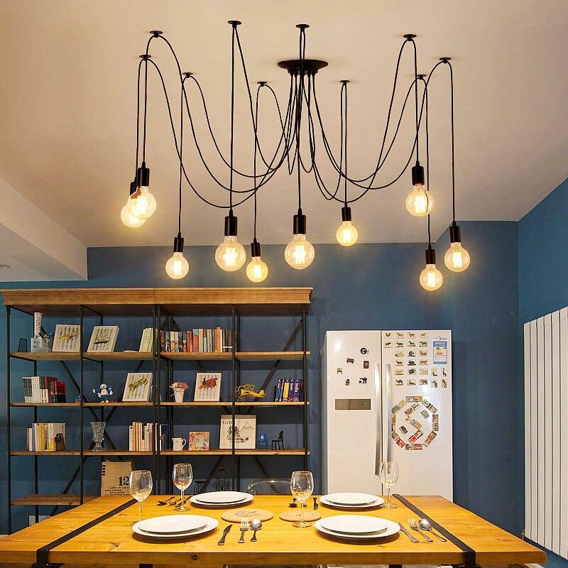 luzes de teto diy arte aranha luminaria 02