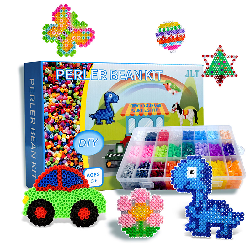 Hama Fuse Beads Kit 5mm Hama Beads Whole Set With Pegboard And Iron 3D Puzzle DIY Toy Kids Creative Handmade Craft Toy Gift