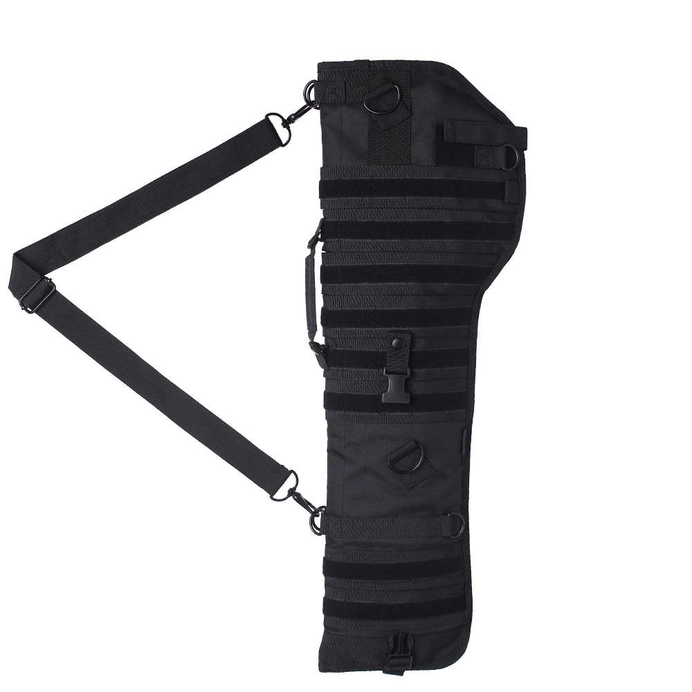 Premium Tactical Shotgun Rifle Scabbard MOLLE Gun Case Adjustable Carry Shoulder Strap Firearm Protection Sling Bag