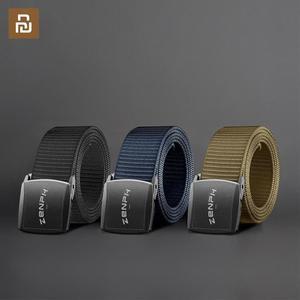 Image 1 - Nouveau Youpin Zaofeng ceinture ceinture tactique extérieure 100% 96 Nylon sangle longueur réglable 38MM largeur hommes ceinture ont 3 couleurs