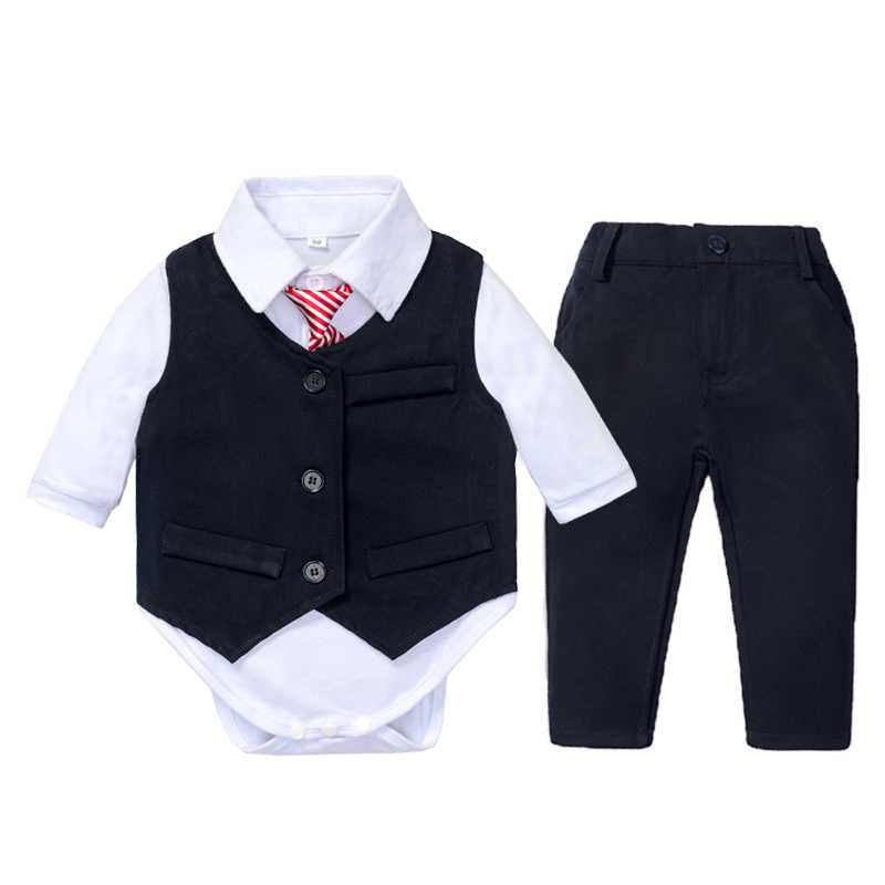 Tuxedo Bodysuit Dress Up Outfit Baby One Piece Clothing Size 18 Months 24 Months
