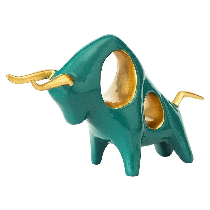 Sculpture Bull Statue Taurus Figurine Resin Bull Symbol Just6F