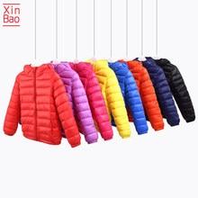 XINBAO От 2 до 10 лет для маленьких девочек и мальчиков, светильник для 2021 капюшоном, подкладка из хлопка, зимнее пальто, Детский жакет осень-весн...