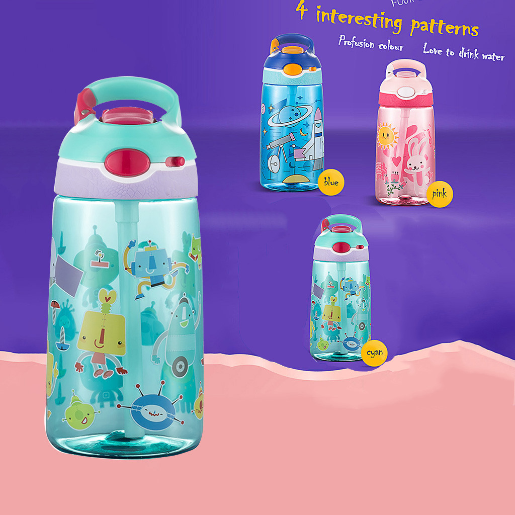 Cute New Square Tea Milk Fruit Water Cup 500ml Water Bottles with Rope