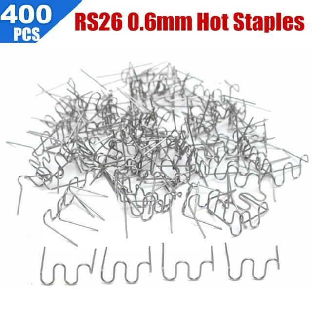 Agrafes chaudes à vague pré-coupée 400 x | 0.6mm Standard pour agrafeuse réparation soudeur utilisé pour réparer les pare-chocs cra c k s