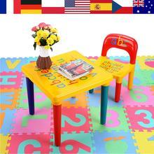 พลาสติกและชุดเก้าอี้สำหรับเด็ก/เด็กเฟอร์นิเจอร์ชุดอาหารค่ำเก้าอี้เด็กและศึกษาตารางชุดการ์ตูน