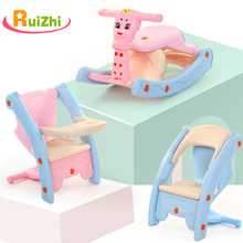Chair Rocking-Horse Indoor-Toys Kids Dual-Use-Seat Multi-Function Dining Ruizhi RZ1125