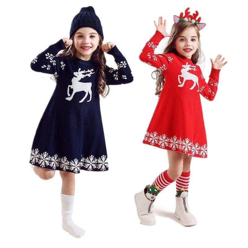 Full Sleeve Girls Dress Birthday Dresses for Kids Children's Clothing Christmas Dress for 3 6 8 Yrs Girls Vestidos Kids Clothes 1