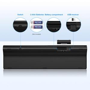 Image 4 - SeenDa Thin 2.4G Wireless Keyboard for Laptop Desktop Scissors Switch Keyboard for Windows Mac OS Full Size 109 Keys Keyboard