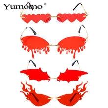 Hot sale Fashion Water drop Heart Fire Sunglasses Women Riml
