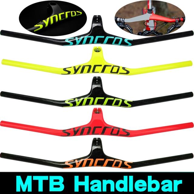 Syn Custom Champion MTBจักรยานจักรยาน 17องศารูปรวมกับ3Kสีดำคาร์บอนMTB Handlebar