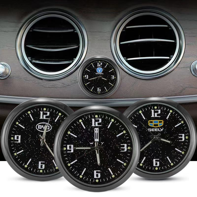 Car Clock Mini Luminous Automobiles Internal Stick-On Digital Watch Car Styling For Citroen Ford AMG Volvo Peugeot BMW Audi MG