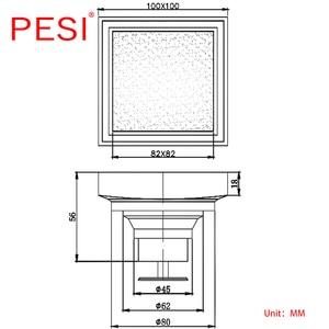 Image 5 - 100% messing Quadrat Bad Dusche Ablauf Fliesen Einsatz Boden Ablauf Antike Anti geruch Drain Haar Unsichtbare Boden Abfall Roste.