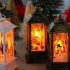 Merry Christmas Lantern Flashing Light Up Party Bar for Home Santa Deer Snowman Lamp Navidad Decoration New Year 2021 Ornament