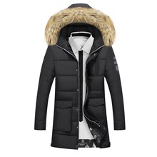Winter Jacket Men Clothing Fashion Casual Slim Thick Warm Mens Coats Parkas With Hooded Long Overcoats Male Clothes streetwear