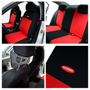 Image 3 - High Quality Car Seat Covers Polyester 3MM Composite Sponge Universal Fit Car Styling for lada Toyota seat cover car accessories
