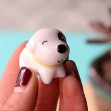 Мини милый щенок 2*3 см Милая полимерная Миниатюрная модель детские игрушки милые аниме детские фигурки микро-пейзажные игрушки