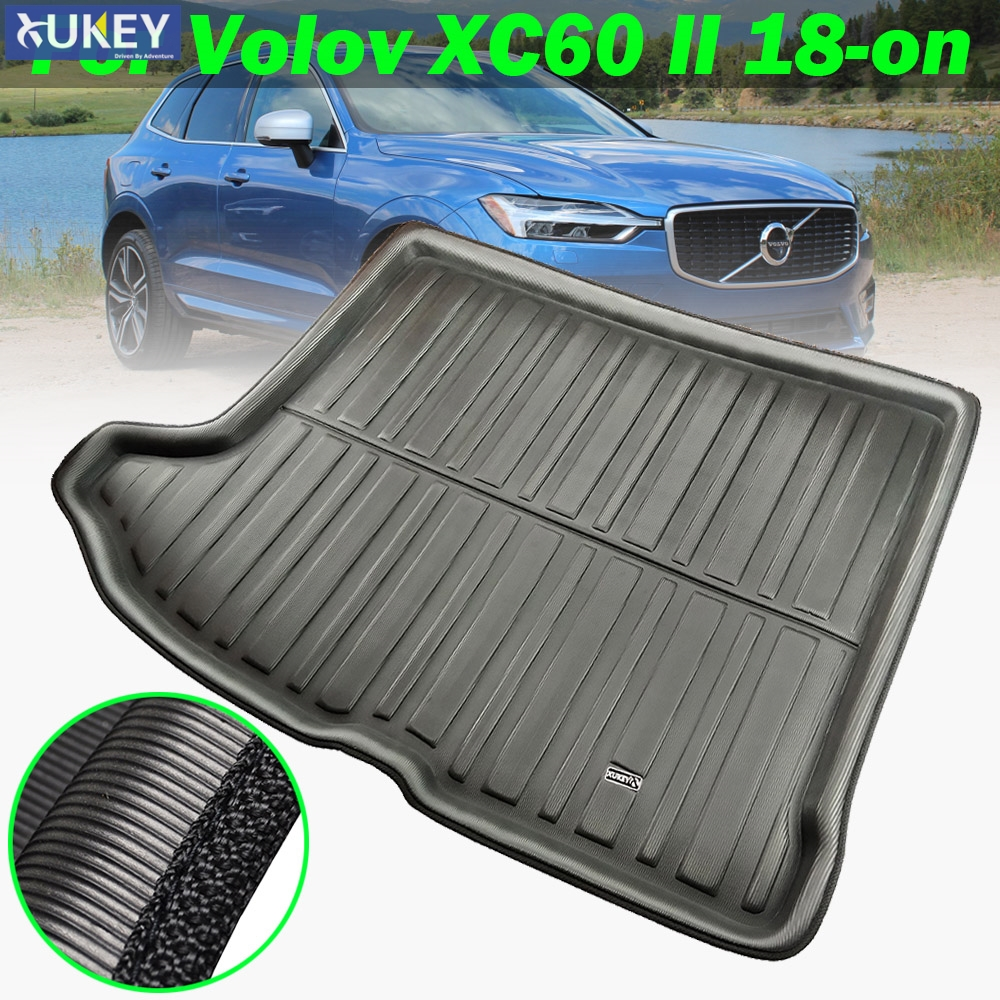 For VOLVO XC60 2018 2019 Leather Carpet Car Interior Rear Boot Cargo Trunk Mat