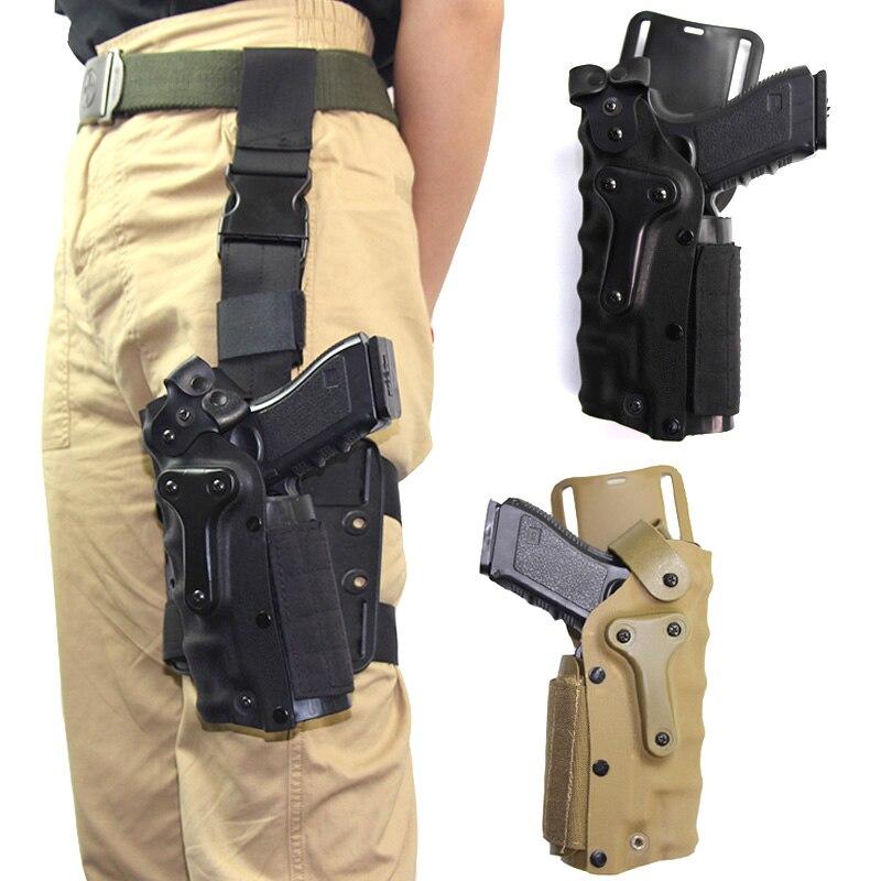 Tactical Leg Gun Holster Glock 17 19 Beretta M92 Colt 1911 P226 Airsoft Pistol Holster Drop Leg Gun Case Hunting Accessories