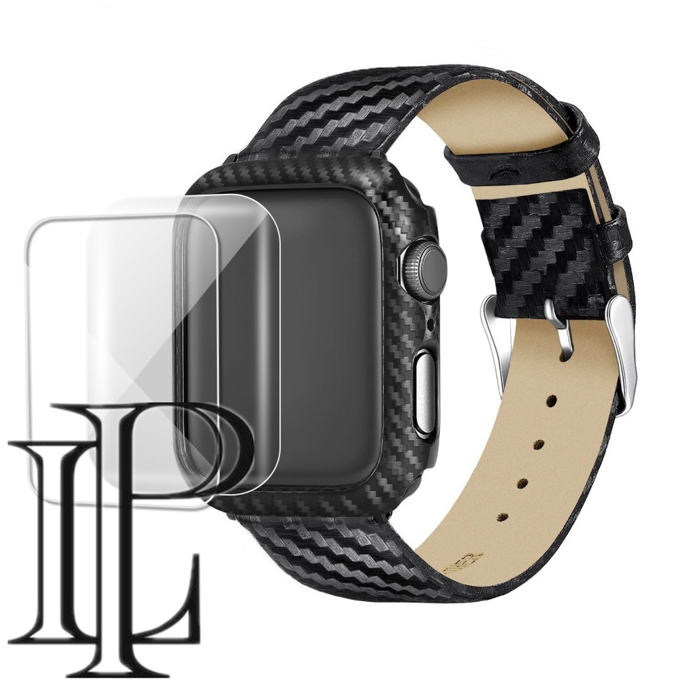 Carbon Fiber Case+Strap For Apple Watch Band 5 4 3 44mm 40mm IWatch Band 42mm/38mm Watchband Bracelet Apple Watch 5 4 3 2 1
