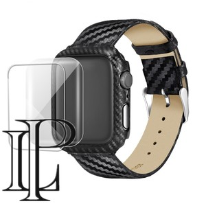 Carbon fiber Case+Strap For Apple watch band 5 4 3 44mm 40mm iWatch band 42mm/38mm watchband Bracelet Apple watch 5 4 3 2 1(China)