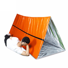 Emergency Shelter Outdoor Waterproof Thermal Blanket Rescue Camping SOS Foldable Military Survival Tent PE S16