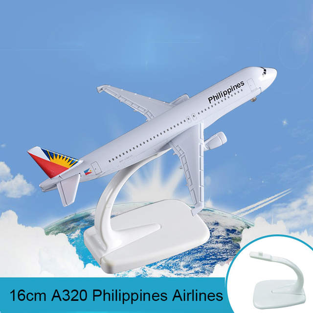 16cm Metal Airplane Model A320 Philippines Airlines International Airbus  A320 Aircraft Model Toys Creative Birthday Holiday Gift