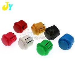 10 stücke fabrik preis arcade taste 24mm Runde Push-Taste Eingebaute kleine micro schalter für DIY arcade controller jamma mame