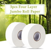 3 Roll 4-Ply Soft Tissue Jumbo Roll Toilet Paper for Home Public Hotel Virgin Wood Pulp Towels Adjunct Non-Smell